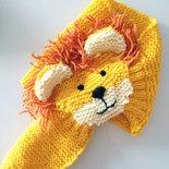 Sciarpa scalda collo leone