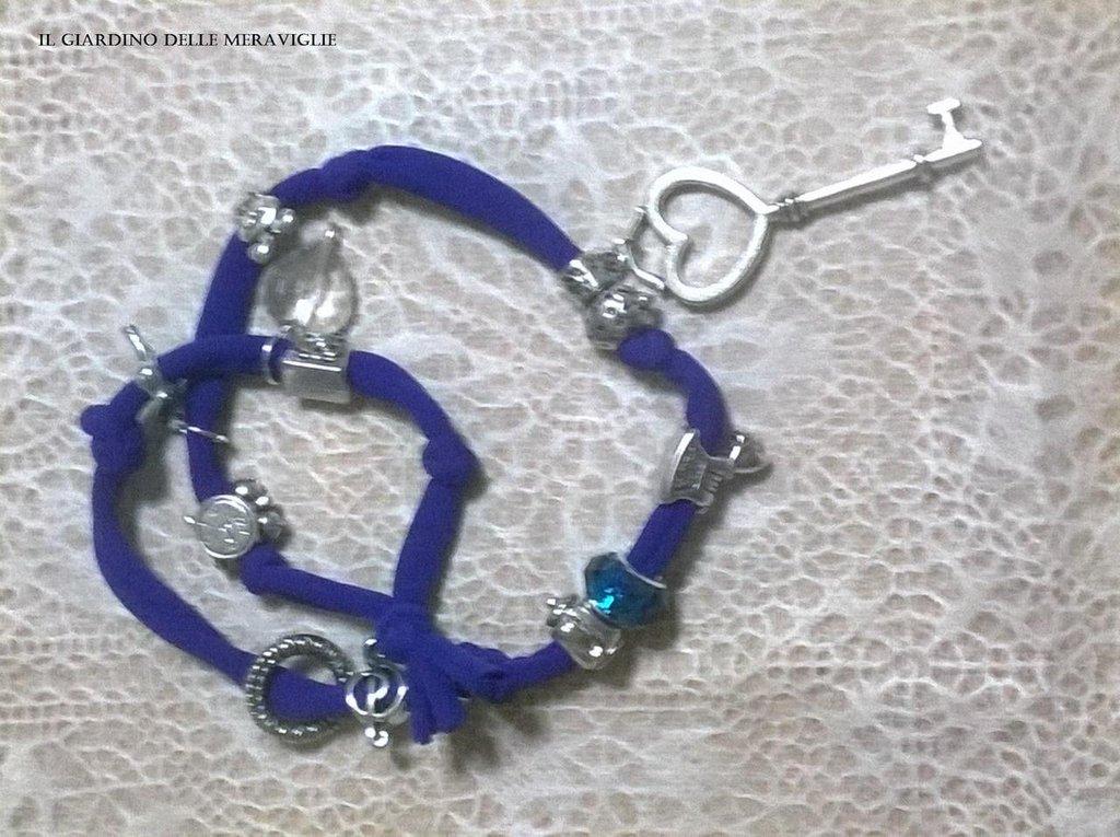 Bracciale lycra elastica blu