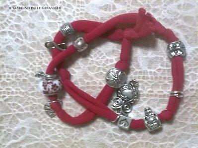 Bracciale lycra elastica rosso