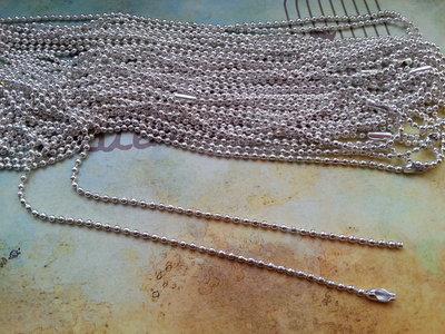 Base per collana a pallini argento (lunga)