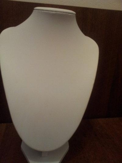 Busto espositore x collane color bianco