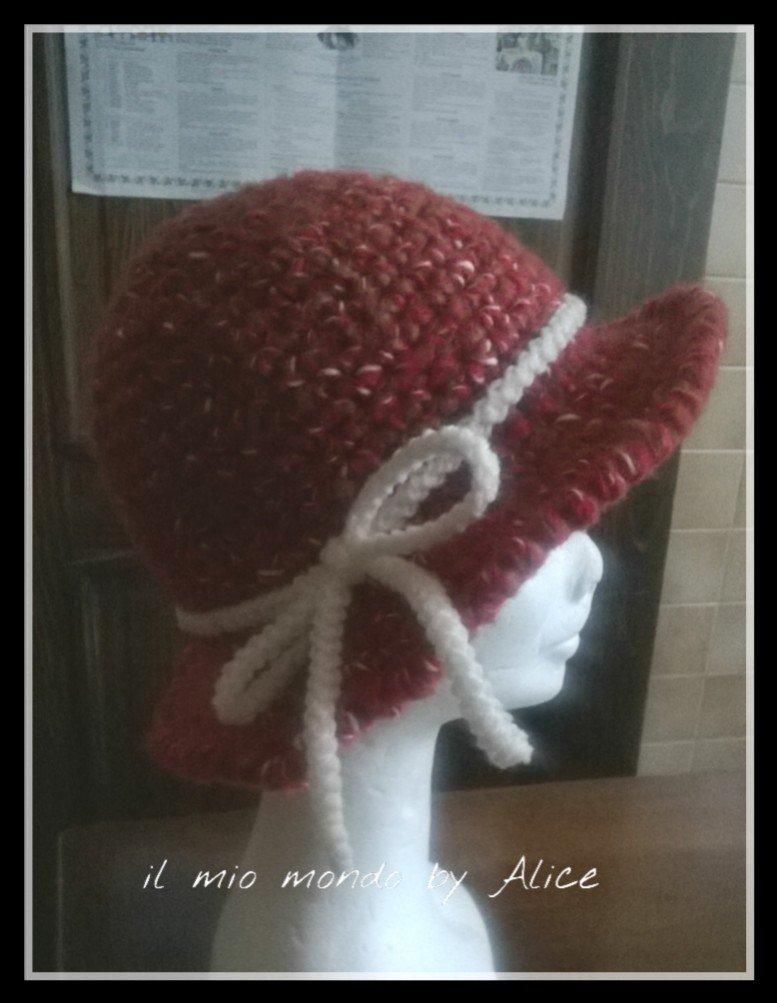 Berretto cappello bimba uncinetto