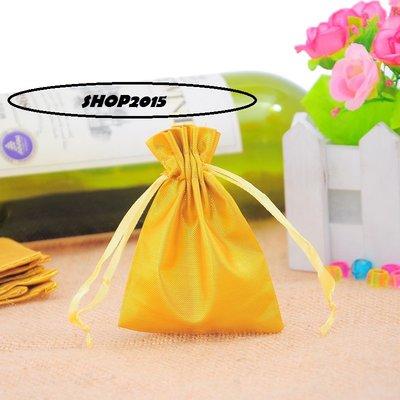 sacchettini, buste per bigiotteria in tessuto 7x9 cm dorati