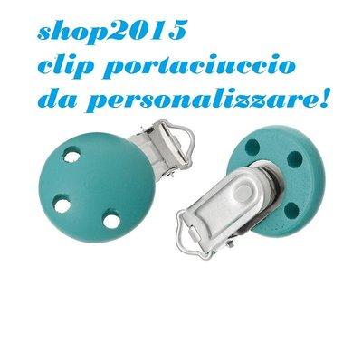 CLIP PORTACIUCCIO VERDE MALACHITE  4.4cm x2.9cm