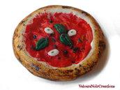 Calamita pizza marinara magnete frigorifero in fimo