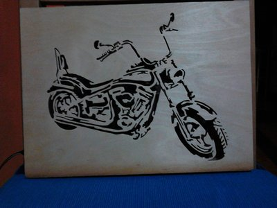 quadretto luminoso Harley Davidson