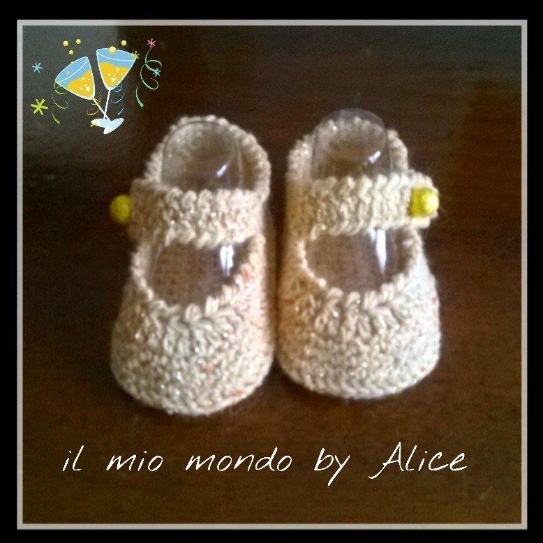 Scarpine scarpette ballerine neonata 0-3 mesi