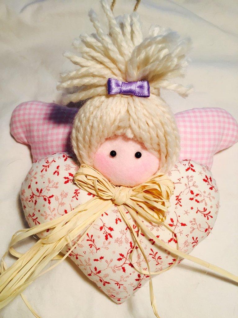 Angioletto patchwork decorativo annuncio nascita