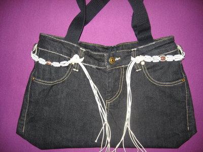 Borsa in jeans nera