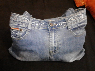 Borsa in jeans blu/azzurra