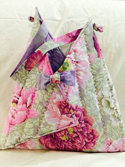 Borsa tela patchwork fantasia floreale
