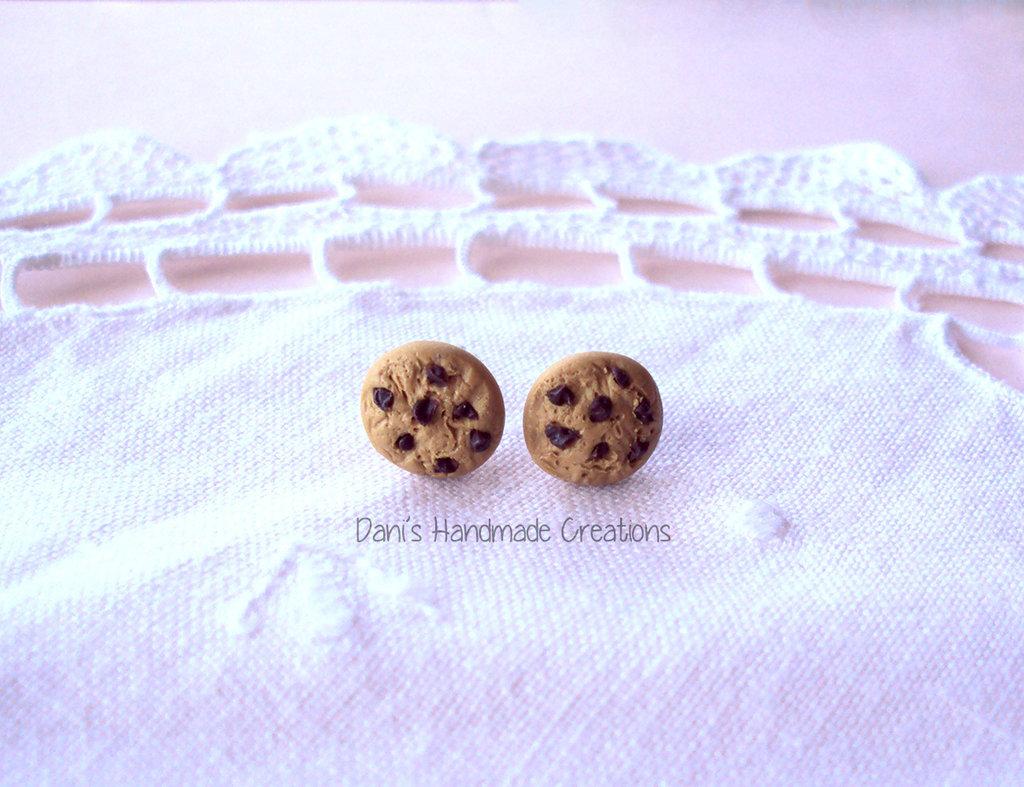 Orecchini a perno cookies in fimo