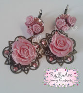 "Orecchini pendenti ""Rosa rosae"""