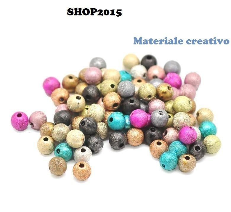 10 Distanziatori perle stardust  6mm vari colori