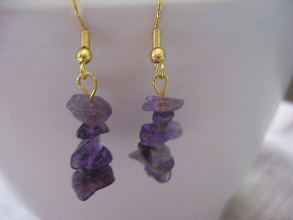orecchini viola