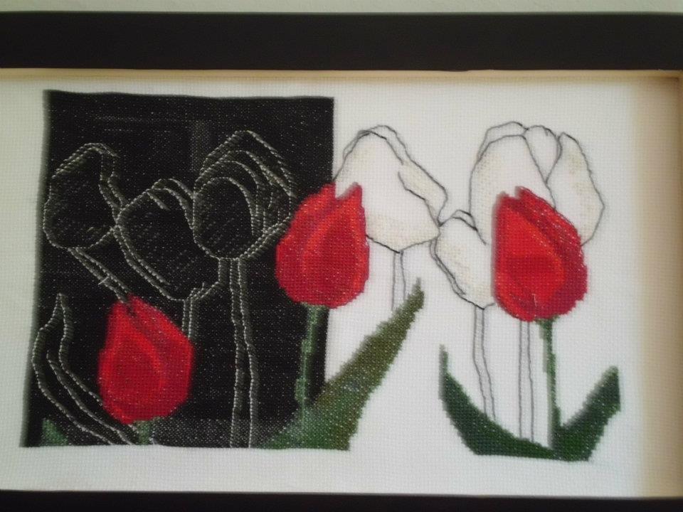 Fiori rossi...in bianco e nero