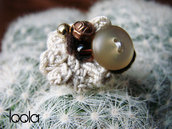 anello uncinetto e perline