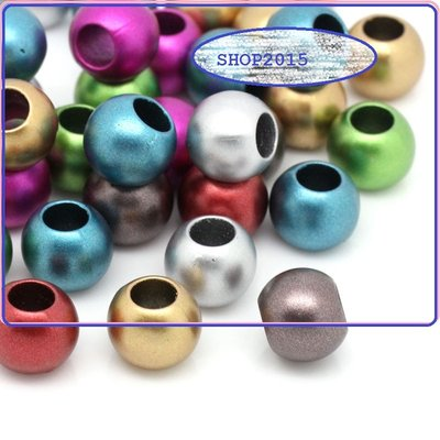 5 mix distanziatori Perle tonde a foro largo 12 mm