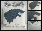 Cuscino House Stark - Game of Thrones inspired