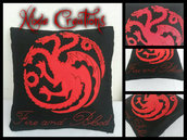 Cuscino House Targaryen - Game of Thrones inspired