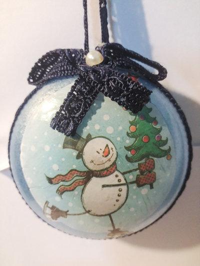 Medaglione Natalizio pupazzo di neve