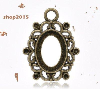 Base cabochon ,cammeo ovale color bronzo adatto a 18x13 mm