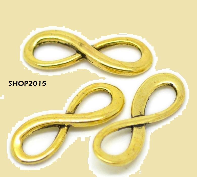 connettore simbolo infinito colore oro 23 mm