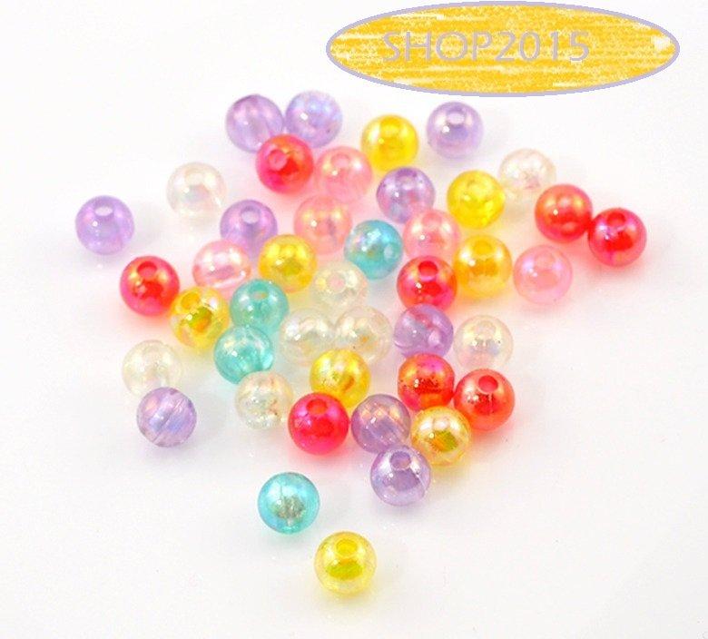 25 PZ. Distanziatori Perle Perline  Colore AB 6mm MIX