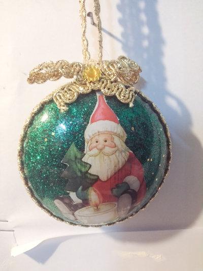 Medaglione Natalizio Babbo Natale