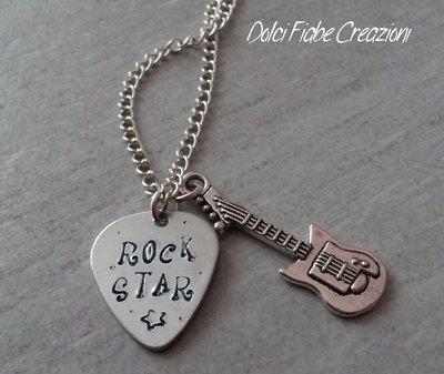 Ciondolo plettro Rock Star