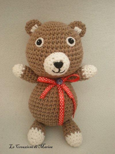 Orsetto Teddy uncinetto amigurumi