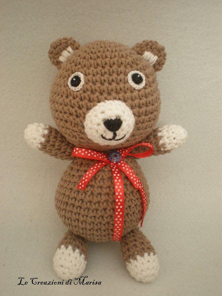 Orsetto Teddy Uncinetto Amigurumi Per La Casa E Per Te Bambole