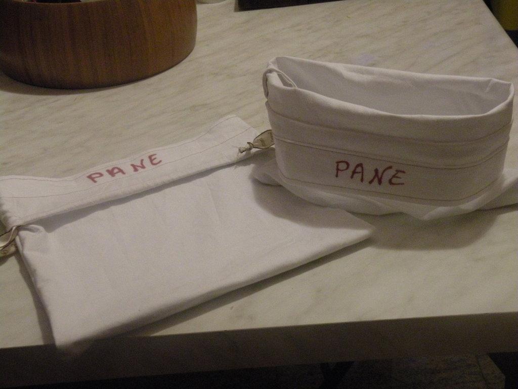 sacchetto cestino per il pane