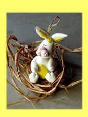 Segnaposto Pasqua- coniglio bomboniera battesimo