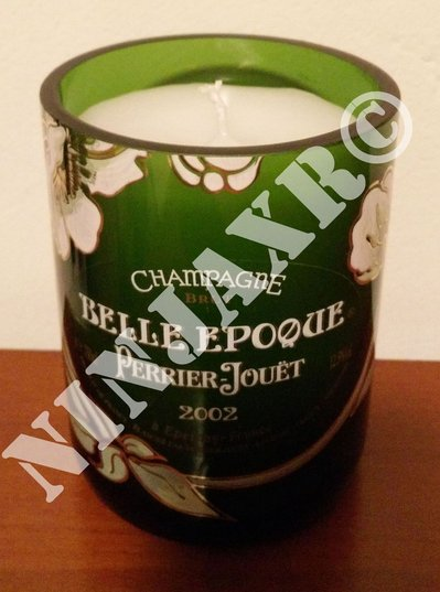 Candela Bottiglia Champagne Perrier Jouet Belle Epoque Portacandela