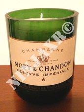 Candela Bottiglia Champagne Moet & Chandon Reserve Imperiale Portacandela