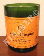 Candela Bottiglia Champagne Veuve Clicquot Portacandela