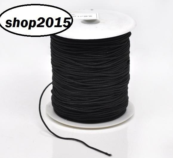 1 mt filo  di cotone elastico nero 1mm