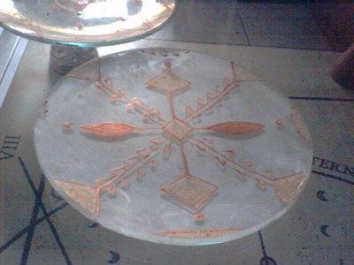 Piatto decorativo bianco