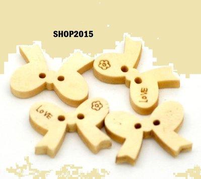 bottone a fiocco legno scritta love 18×13 per scrapbooking o bijoux