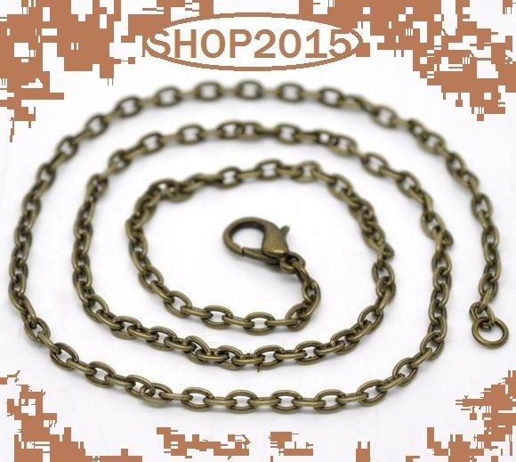 catenina base collana  bronzo   46 cm  con chiusura Moschettone