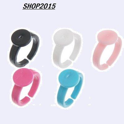 5 pz  anelli regolabili in plastica per bambine vari colori