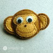 scimmietta in pannolenci