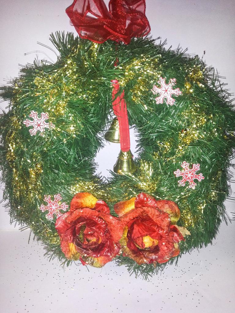 Ghirlanda nataliza porta 3 feste natale di decoupage store su misshobby - Ghirlanda porta natale ...
