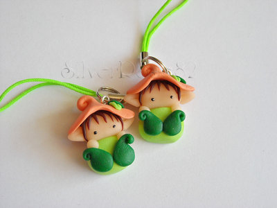 Follettino Phonestrap Verde-arancio