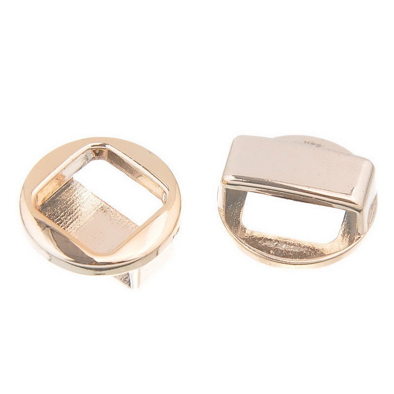 Perla quadrata traforato tono rosa dorato 18mm Foro:15mmx4mm