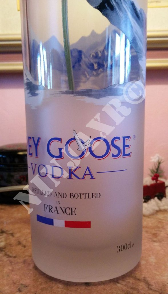 Lampada da tavolo Bottiglia Vodka Grey Goose Jeroboam 3 L