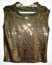 Sottogiacca in glitter oro