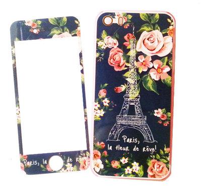 Custodia Paris - flowers iPhone 4S + pellicola trasparente per schermo - PEZZO UNICO! idea regalo fashion