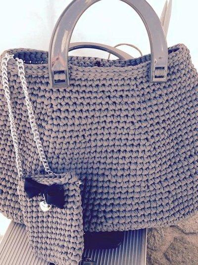 borsa shopper con portacellulare